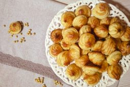 Extremely soft choux pastry cookies