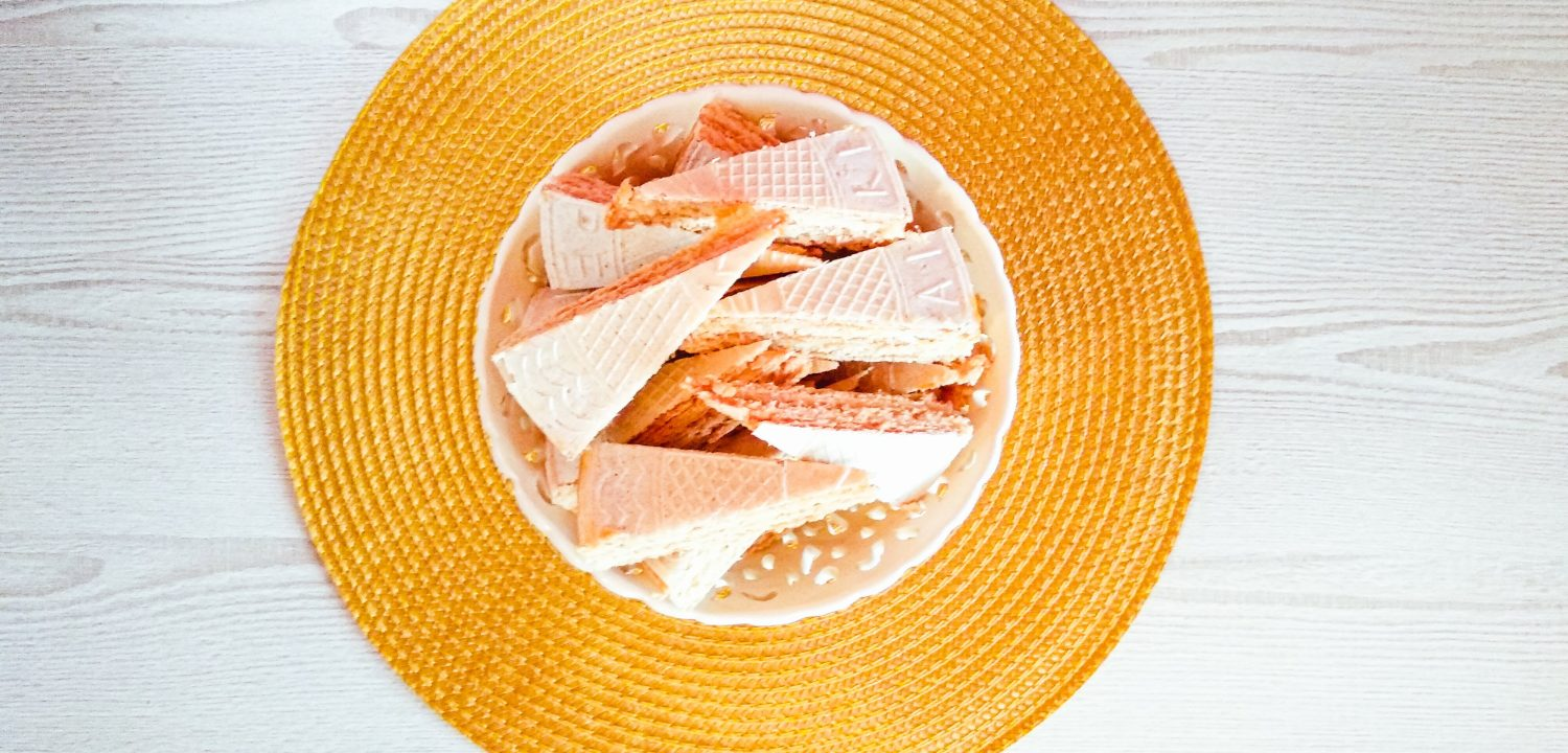 Wafers with Caramel Spread and Condensed Milk