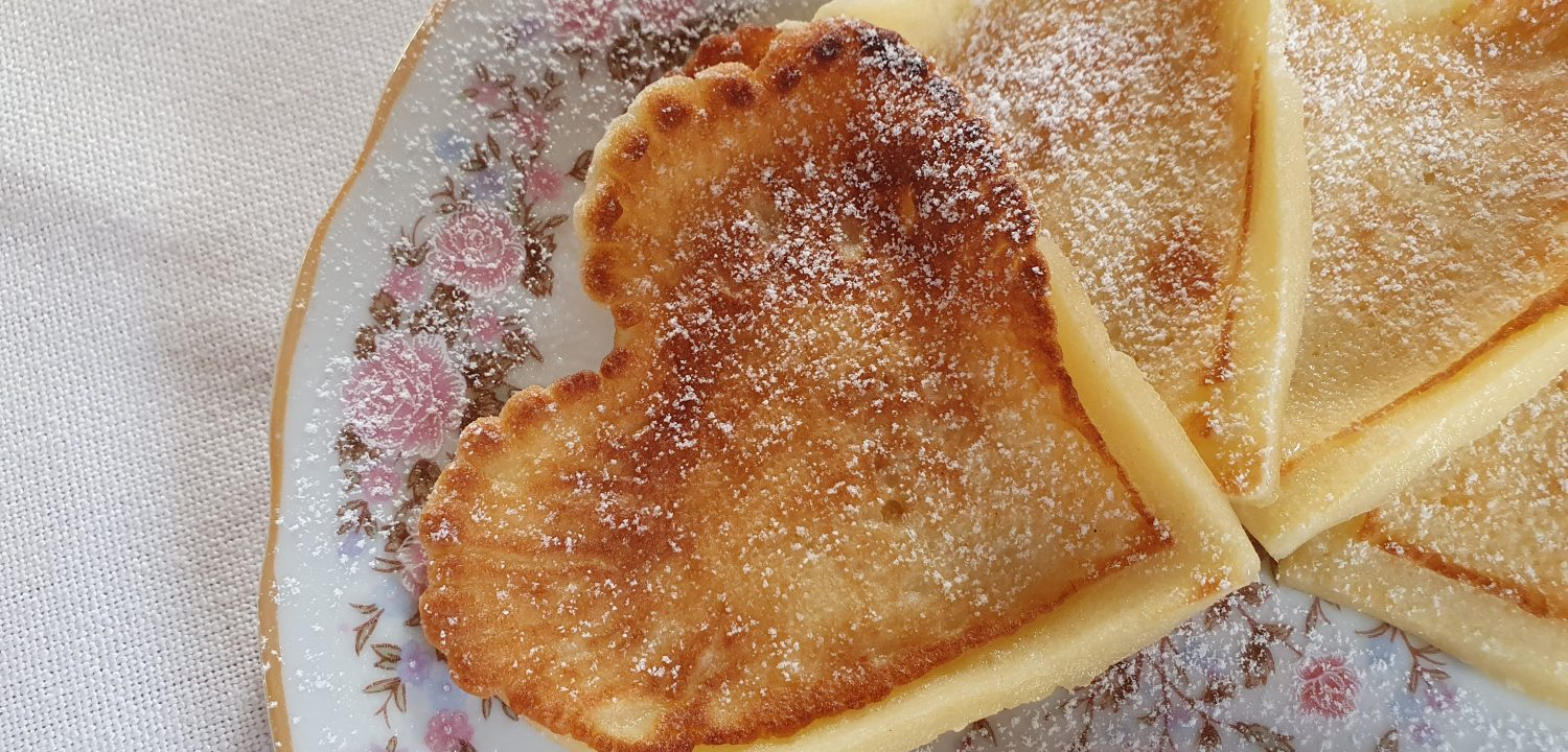 Heart Shaped Breakfast Pancakes for Valentine's Day