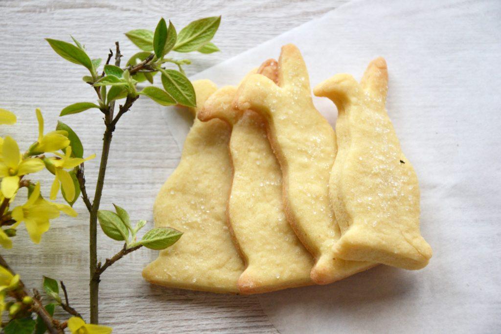 Sviestiniai sausainiai su cukrumi
